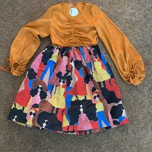 ALICE + OLIVIA Midi Skirt